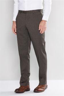 Herringbone Textured Trousers