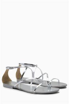 Minimal Wrap Sandals