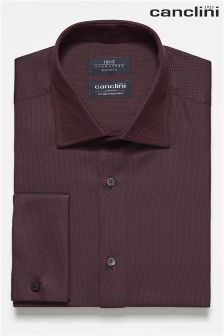 Signature Canclini Textured Double Cuff Shirt