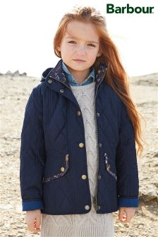 Barbour® Navy mpeller Quilted Jacket
