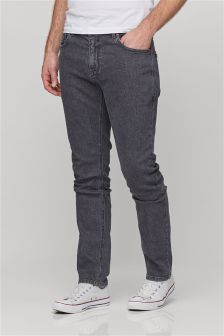 Mens Grey Jeans | Charcoal & Light Jeans For Men | Next UK