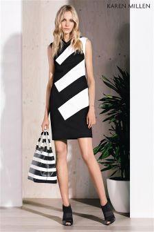 Black & White Karen Millen Colourblock Dress