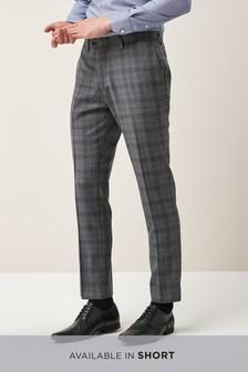 Signature Check Slim Fit Suit: Trousers