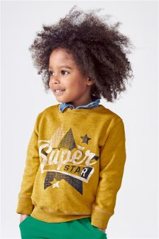 Superstar Crew Neck Top (3mths-6yrs)