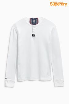 Superdry White Grandad Top