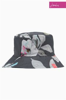Joules Grey Floral Packable Hat