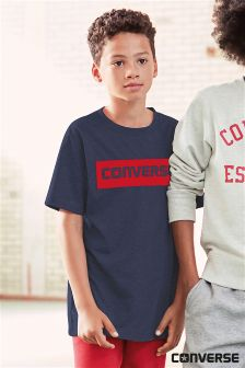 Converse Navy Work Mark Tee