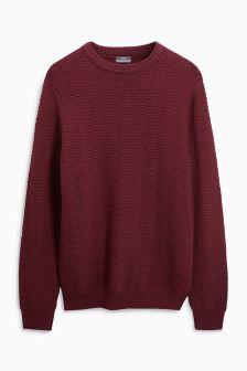 Premium Textured Wool Rich Crew