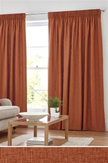 Bouclé Blend Multi Header Lined Curtains