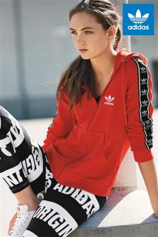 adidas Originals Red Slim Full Zip Hoody
