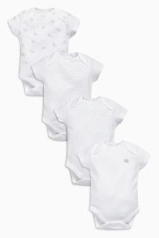 Delicate Sheep Short Sleeve Bodysuits Four Pack (0mths-3yrs)