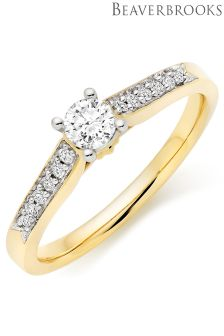 Beaverbrooks 9ct Gold Diamond Ring