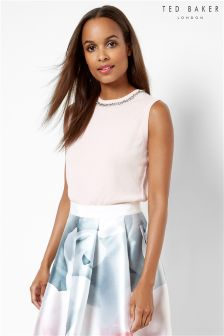 Ted Baker Pink Embellished Sleeveless Jumper