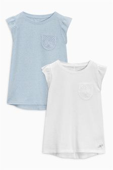Crochet Pocket Tops Two Pack (3-16yrs)