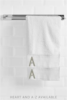 Gold Initial Bath Towel