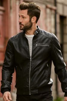 Buy Men's coats and jackets Jackets Biker from the Next UK online shop