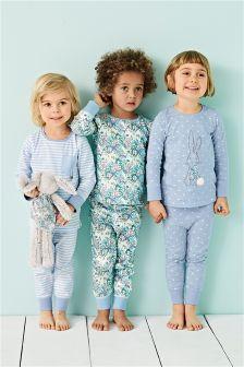 Bunny Appliqué Pyjamas Three Pack (9mths-8yrs)