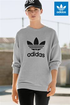 adidas Originals Grey Trefoil Sweater