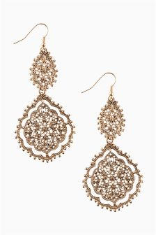 Filigree Statement Drop Earrings