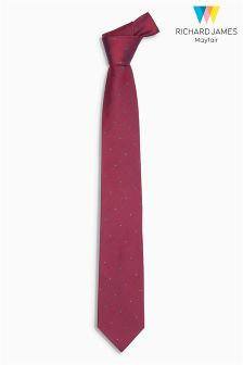 Richard James Polka Dot Silk Tie