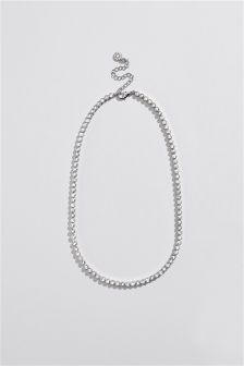 Crystal Effect Tennis Necklace