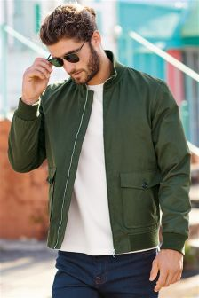 Military Style Harrington Jacket
