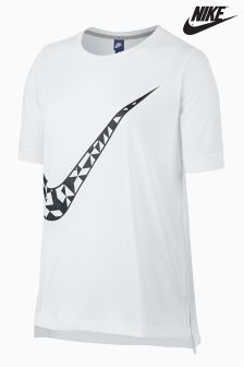 Nike White Sportswear Top