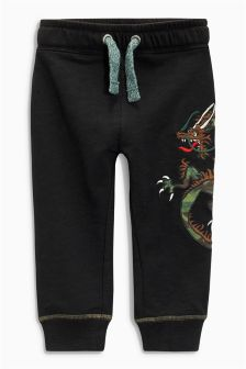 Embroidered Dragon Joggers (3mths-6yrs)