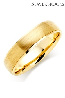 Beaverbrooks Mens 9ct Gold Wedding Ring