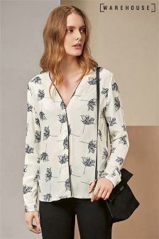 Warehouse Stencil Floral Blouse