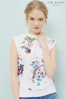 Ted Baker White Pueto Floral Top