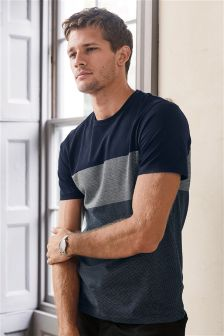Jacquard Block T-Shirt