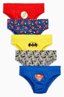 Superman® And Batman® Briefs Five Pack (1.5-8yrs)
