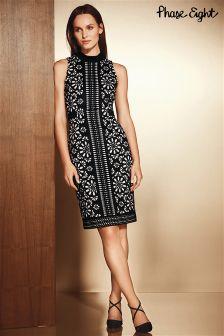 Phase Eight Black/Nude Anesha Dress