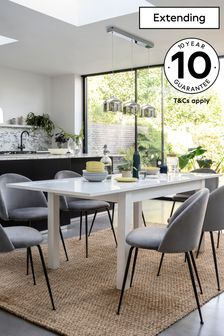 Valencia® White Gloss Extending Dining Table