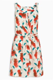 Pineapple Print Dress