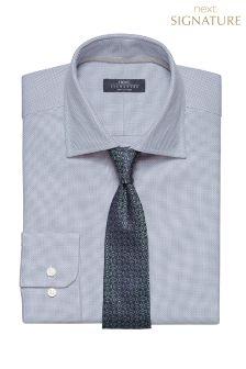 Signature Textured Weave Regular Fit Shirt