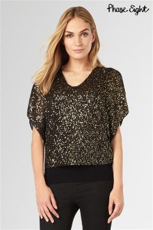 Phase Eight Black Antonella Sequin Knit