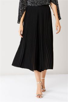 Coast Black Serena Pleated Culottes