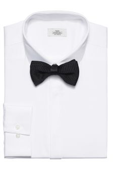 Shirt And Knitted Bow Tie Set