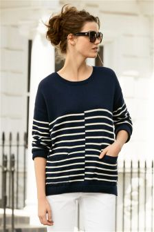 Cotton Linen Boat Sweater