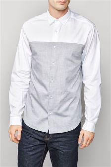 Long Sleeve Colourblock Shirt