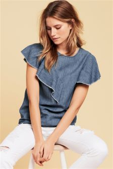 Ruffle Tencel® Rich Top