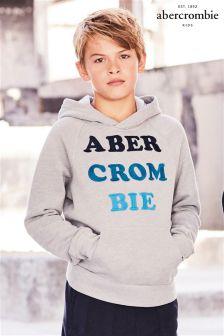 Abercrombie & Fitch Cream Logo Hoody