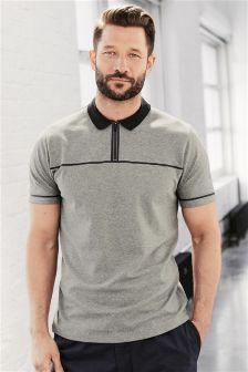 Zip Neck Poloshirt