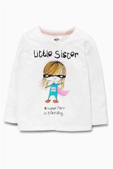 Little Sister Superhero T-Shirt (3mths-6yrs)