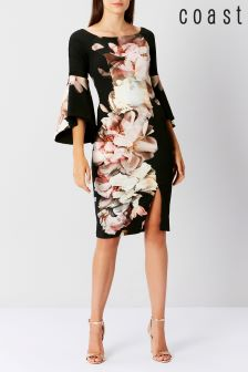 Coast Black Arles Print Scuba Shift Dress