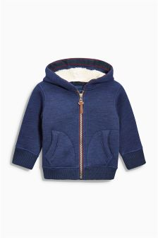 Borg Lined Zip Through Hoody (3mths-6yrs)