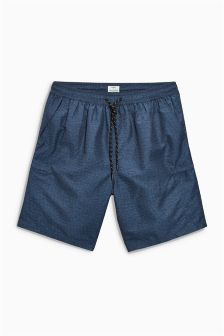 Fabric Interest Cargo Swim Shorts