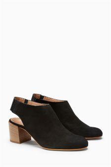 Leather Slingback Shoe Boots